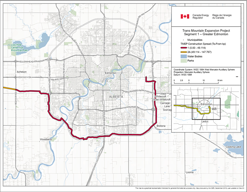 Trans Mountain Expansion Project – Segment 1 – Greater Edmonton