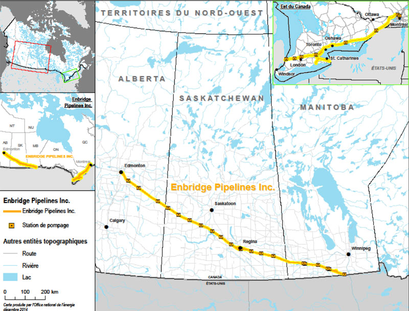 Figure 1 : Pipelines Enbridge Inc.