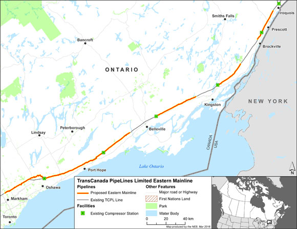 TransCanada Eastern Mainline Project Map