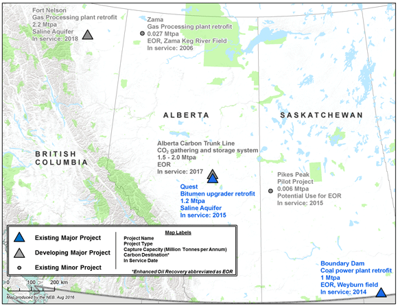 Canadian Carbon Capture and Storage Projects